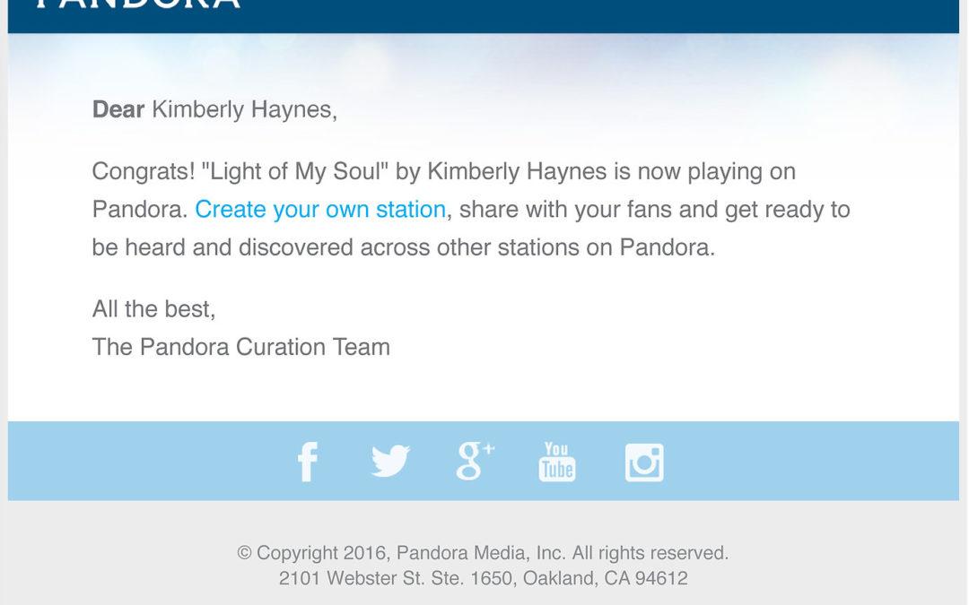 Now on Pandora!!!