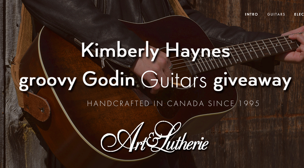Kimberly Haynes groovy Godin guitar giveaway!